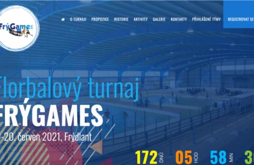 Spustili jsme nový web florbalového turnaje FrýGames