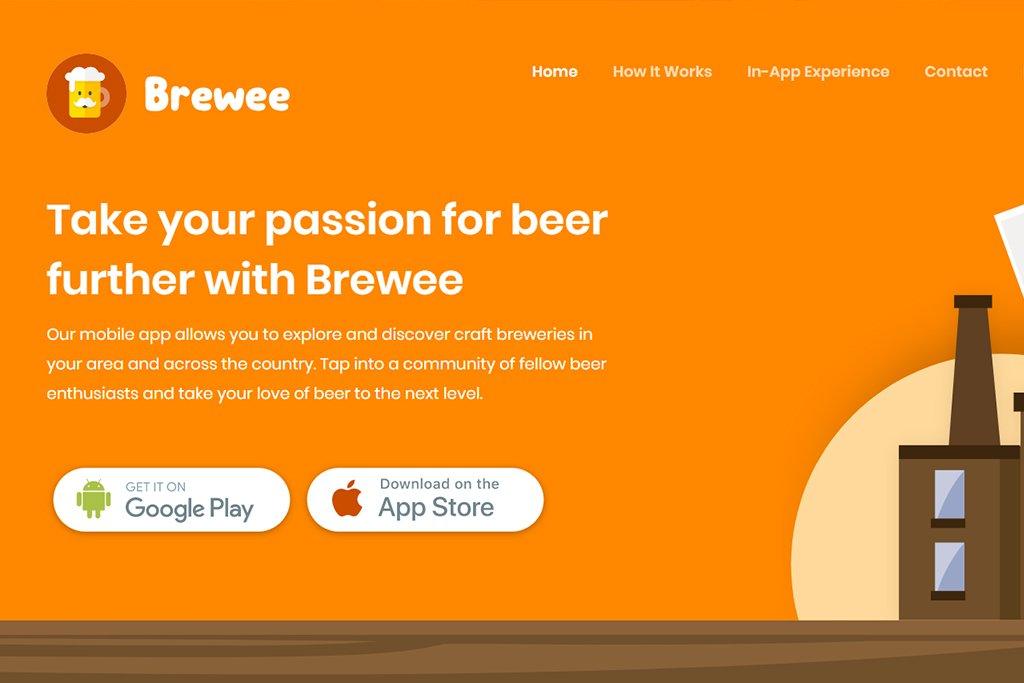 Nový web pro aplikace Brewee je na světě!